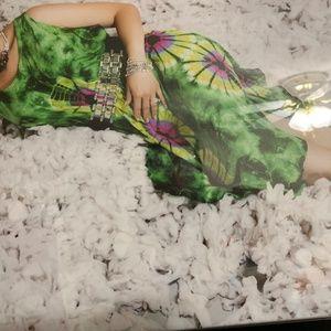 Women's Summer Sunflower Print Dress